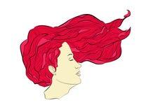 Flödande hår Arkivfoton