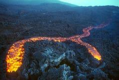 flödande lava Royaltyfri Foto
