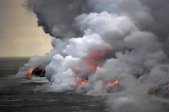 flödande lavahav fotografering för bildbyråer