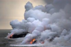 flödande lavahav arkivfoto