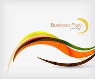 Flödande linjer för företags affär royaltyfri illustrationer