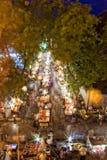 flödande marknadsgata för porslin Royaltyfri Foto