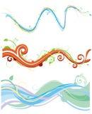 flödande skraj modell vektor illustrationer