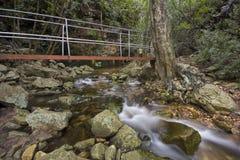 flödande ström för bro under arkivfoton