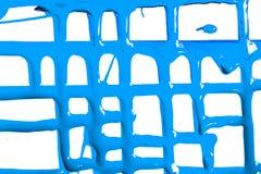 Flöden av blå målarfärg fotografering för bildbyråer