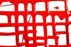 Flöden av röd målarfärg royaltyfri bild