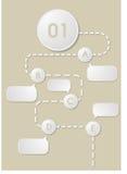 Flödesdiagram Fotografering för Bildbyråer