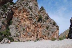 Flödet de Pareis, Majorca Royaltyfri Foto