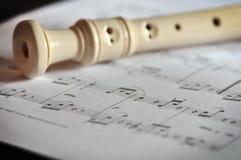 flöjtmusik Royaltyfri Bild