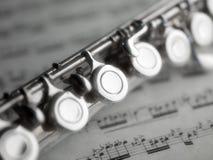 flöjtmusikställning Arkivbild
