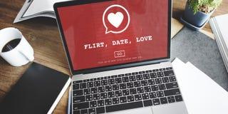 Flörtdatumförälskelse Valentine Romance Heart Passion Concept Royaltyfri Bild