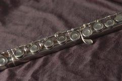 Flöte auf Schwarzem lizenzfreies stockbild