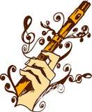 Flöte in der Hand Lizenzfreies Stockbild
