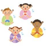 Flöte och barn Arkivbilder