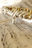 Flöte und Musik Lizenzfreie Stockfotografie