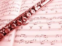 Flöte und Musikkerbe Lizenzfreie Stockbilder