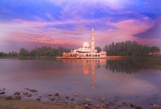 FlöteMasque i Kuala Terengganu Arkivbilder