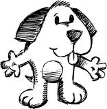 Flüchtige Hundevektorabbildung Lizenzfreie Stockbilder