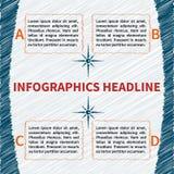 Flüchtige infographics Schablone Lizenzfreie Stockfotografie