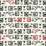 Flüchtige Liebesschrifttypen Stockfotografie