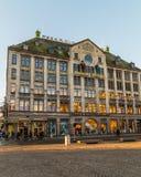 Flüchtiger Blick u. Cloppenburg und Madame Tussaud Building in Amsterdam Stockbilder