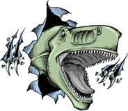 Flüchtiger Dinosaurier Vektor Lizenzfreies Stockbild