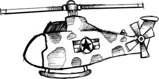 Flüchtiger Hubschraubervektor Stockfoto