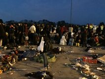 Flüchtlinge von Nickelsdorf Lizenzfreie Stockbilder