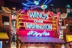 Flügel über Washington eine Fliegen-Fahrt Stockfoto