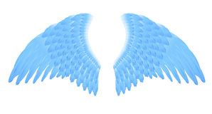 Flügel des blauen Engels Stockfotografie