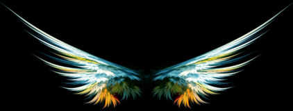 Flügel des blauen Engels Stockfoto