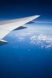 Flügel des Flugzeuges Stockfoto