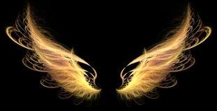 Flügel (Feuer, Dämon) vektor abbildung