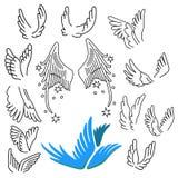 Flügel stellten ein vektor abbildung