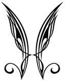 Flügel. Tätowierungauslegungelemente stock abbildung