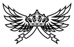 Flügel und Krone Stockfoto