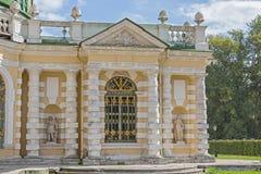 Flügel von Pavillon Grotte in Kuskovo-Zustand lizenzfreie stockfotos