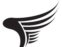 Flügel-Zeichen Lizenzfreies Stockbild