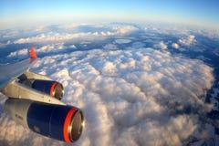 Flügelansicht Aeroflots Ilyushin IL-96-300 RA-96007 Lizenzfreies Stockbild