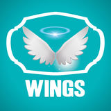 Flügeldesign Lizenzfreies Stockfoto
