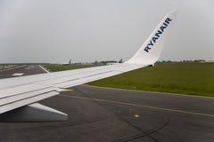 FlügelFlugzeugverkehr Stockfoto