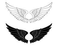 Flügeliger angeredeter Winkel-Flügel-Vektor-Grafik-Satz vektor abbildung