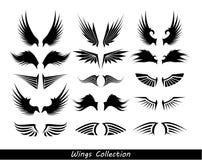 Flügelsammlung (stellen Sie von den Flügeln) ein Stockfoto