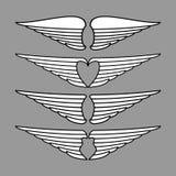 Flügelvektor lizenzfreie stockfotos