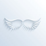 Flügelzeichen mit Schatten vektor abbildung