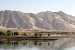 Flüsse und Berge, Tibet Stockbilder