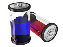 Flüssige Batterie lizenzfreie stockfotografie