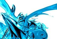 Flüssige Eisspritzengraphik Stockfoto