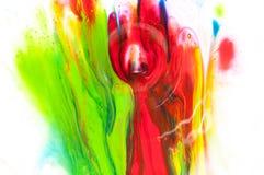 Flüssige Farbe Stockfotografie