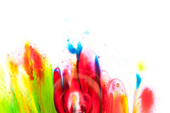 Flüssige Farbe Stockbild
